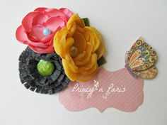 Anthropologie flower clip for all ages by PrincynParis on Etsy, $17.50