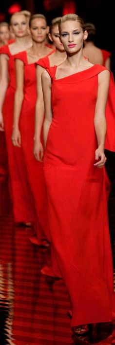 The ladies  wore RED -- Valentino