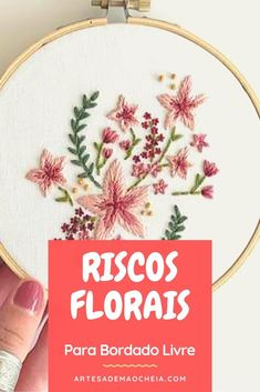 Bordado Floral, Embroidery Art, Needlework, Diy And Crafts, Home Decor, Towel, Wool Quilts, Towel Crafts, Embroidery Hoop Crafts