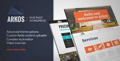 Download and review of ARKOS - Wordpress Responsive One-page, one of the best Themeforest Creatives themes