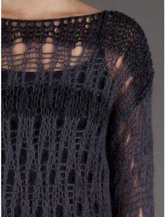 Isabel Benenato Long Sleeve Knit Sweater - H. Hand Knitting, Knitting Patterns, Crochet Wool, Stitch Book, Sweater Fashion, Pulls, Knitwear, Sweaters, Cardigans