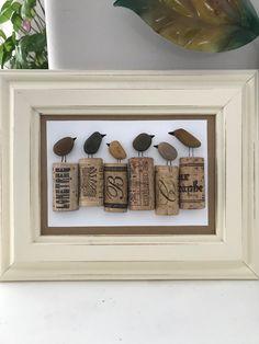 Sea Glass Crafts, Wine Cork Crafts, Sea Glass Art, Stone Crafts, Rock Crafts, Pebble Art Family, Pebble Pictures, Stick Art, Cork Art