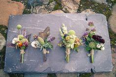 mixed buttonholes .. late summer/autumn