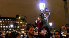 "JE SUIS CHARLIE - LONDRES TRAFALGAR SQUARE LONDON ""I am Charlie""   #1  4..."