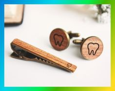 Dental hygienist gift for dentist tooth dentist gift Dentist Teeth Dentist, Father Presents, Gifts For Dentist, Cufflink Set, Dental Hygienist, Dental Implants, Vintage Cufflinks, Craft, Personalized Gifts
