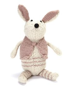 Take a look at this Pink & White Rabbit Wool Toy by Én Gry & Sif on #zulily today! $34 !!