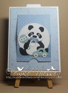 kaartenknutsels van femke: Pop-up slider cards baby boy and girl