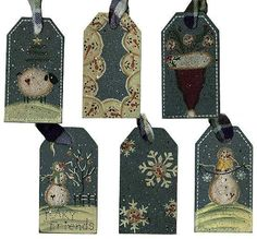 Primitive Winter Holiday Wooden Gift Tag - Signs & Ornaments - Home Decor