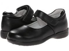 Jumping Jacks Kids Tutor (Toddler/Little Kid) (Black Leather) Girls Shoes