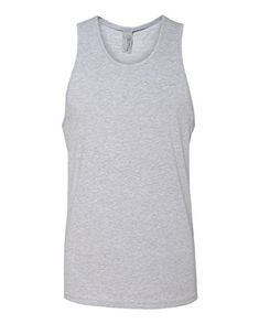 4d4104cba21df Next Level Men s Premium Jersey Tank Heather Gray - Fabric laundered