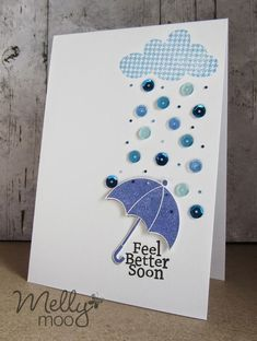 Get Well umbrella card