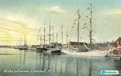 Port of the Privateers The Province, Travel And Tourism, Nova Scotia, Sailing Ships, Liverpool, Profile, Canada, Boat, History