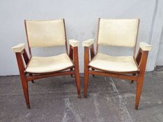 2 MCM Danish Inspired Chairs Armchairs Seating Mid Century Modern Seating Lounge #MidCenturyModern