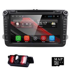 8 Inch 1024*600 2 Din Android 6.0 VW Car Audio DVD Player GPS For GOLF 6 Polo Bora JETTA B6 PASSAT Tiguan SKODA OCTAVIA 3G