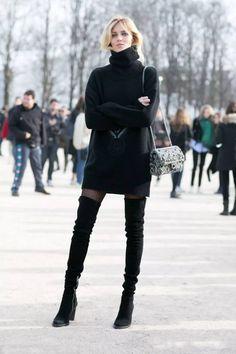 為平凡日常增添低調氣勢:七招征服冬季當紅過膝靴 2