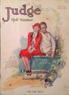 Judge Magazine June 1925 Golf Cover