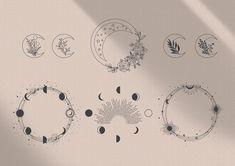 Moon Star Tattoo, Star Tattoos, Body Art Tattoos, Tattoo Drawings, Sun Moon Tattoos, Moon Cycle Tattoo, Tatoos, Mystical Tattoos, Astrology Tattoo