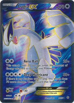 Lugia-EX - 94/98 - Full Art Ultra Rare - XY Ancient Origins Singles - Pokemon
