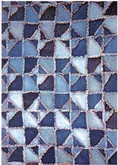 PT1429  Denim Diamonds Rag Quilt Pattern by Bonnie B Buttons