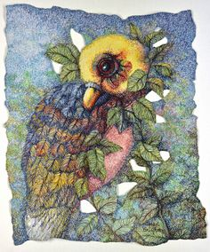 Cheryl Bridgart's 'Wishes on the Wing' 86x76 free embroidery in thread only on cotton paper