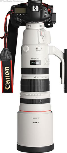 Canon EF 200-400mm f/4 L IS USM Ext 1.4x Lens with Hood mounted on Camera.  For more images and information on camera gear please visit us at www.The-Digital-P...