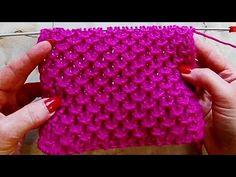 Рельефный узор Вязание спицами Видеоурок 250 - YouTube