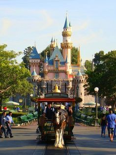 Sleeping Beauty Castle, Disneyland at 8:45 in the morning