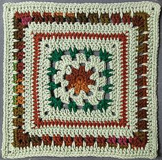 """Easy Eight - free crochet square pattern which can be 6,7,8,10 or 12"""" by JLyn Spencer"""