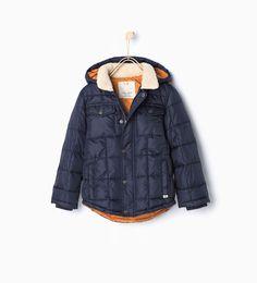 Fleece collar jacket.-Coats-Coats-Boy-Kids | 4-14 years-KIDS | ZARA United States