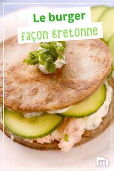Burger breton aux galettes de sarrasin /// #burger #bretagne #breton #sarrasin #galette #marmiton #recette #cuisine