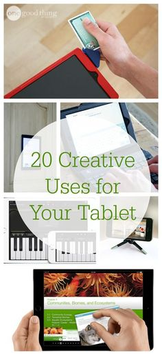 While many of a tablets functions are well known -- like browsing the web, reading eBooks, or playing games -- there are also plenty of other unique ways to use them. We've compiled some of the most creative (and sometimes surprising) ways to use these versatile electronic tools.