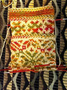 Amphibiaknitter's Latvian Wedding Sock - knit with Tibetan Dream