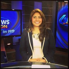 Leslie Rangel anchoring the noon show.