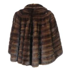 1stdibs | 50s Chocolate Mink Stole with Dramatic Flared Back
