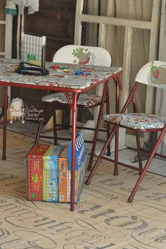 card-table-recreated by vintage charm restored