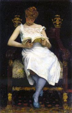 o silêncio dos livros: Edward Simmons [ Girl Reading ] 1893 Girl Reading, Reading Art, Love Reading, Reading Books, Children Reading, People Reading, Book People, Good Books, My Books