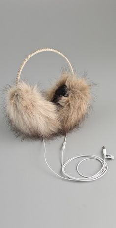 Juicy Couture Faux Fur Earmuff Speaker Headphones - StyleSays