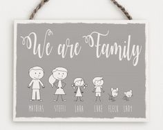 Ein wunderschönes Türschild für den Eingangsbereich mit euren Namen und einer schönen Darstellung deiner Familie, die wir für dich anpassen.   Nenne uns einfach die Anzahl der Familienmitglieder und deren Namen. Vor der Anfertigung bekommst du von uns ein digitales Vorschaubild zugesendet.