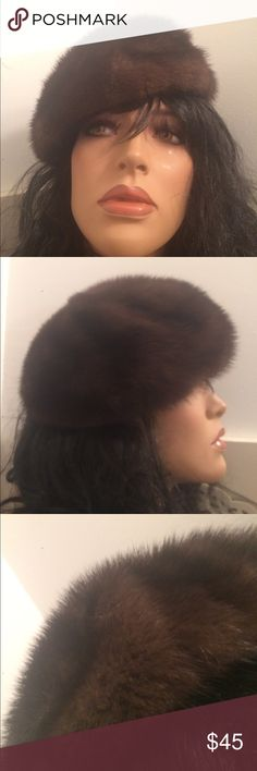 """Mink hat. Vintage gorgeous mink beret that is stunning!!  Inside measurements 8""""by 8"""" excellent condition , more of fashionable statement hence it's incredible newness ❤️ Miss Alice Accessories Hats"""