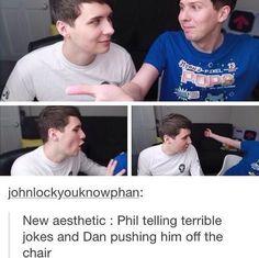 Dan falls off, Phil gets pushed off.