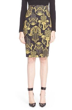 Versace Collection Handprint Pencil Skirt available at #Nordstrom