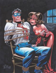 "comicblah: "" The Spirit & P'Gell by Bruce Timm "" Bruce Timm, Comic Book Artists, Comic Artist, Comic Books Art, Harley Quinn, Dc Comics, Character Designer, Timmy Time, Comic Manga"