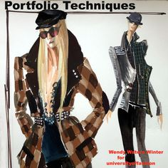 Make clothes by learning draping, pattern making, art, sewing and other hands on skills. University Style, College Fashion, Pattern Making, Plaid Scarf, Fashion Art, Drawing, Illustration, Clothes, Outfits