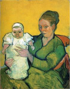 """""""Mother Roulin with her Baby"""" Vincent van Gogh 1888"""