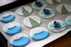Alpine Ski Theme cupcakes