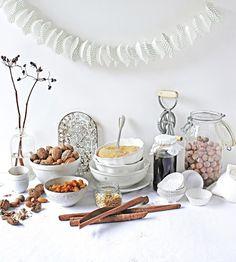 Pratos e Travessas: Natal branco # White Christmas * Recipes, photography and stories