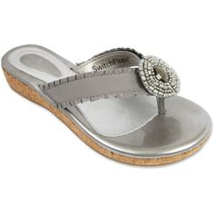 Lindsay Phillips Switchflops Libby Silver Sandal $39.95 On Sale – Christina's Unique Accessories & More