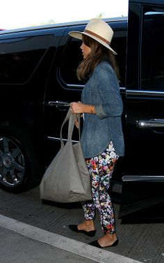 comfy floral pants