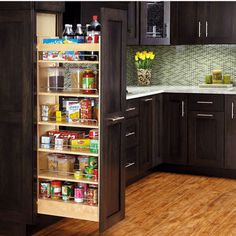Pull Out Shelves An Best Option for Kitchen Pantry Storage. Pull Out Shelves An Best Option for Kitchen Pantry Storage. 35 Variety Of Appliances Storage Ideas for Your Kitchen Slide Out Pantry, Pull Out Pantry, Kitchen Pantry, New Kitchen, Kitchen Storage, Wall Pantry, Pantry Cupboard, Pantry Storage, Pantry Organization