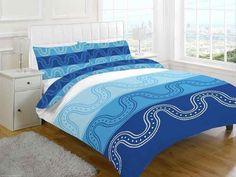 Medallion Printed Blue Duvet Quilt Cover Set — Linens Range